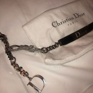 Christian Dior Belt with Crystal Lock